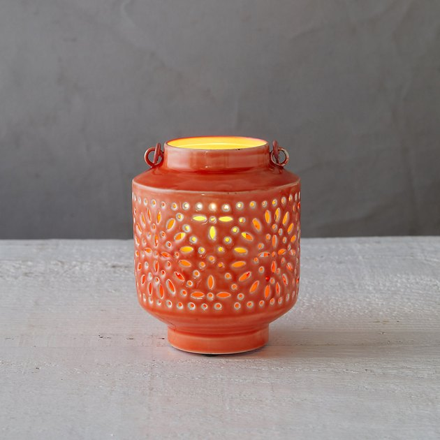 coral votive holder