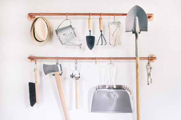 Organize tools in the chicest way possible with copper pipe