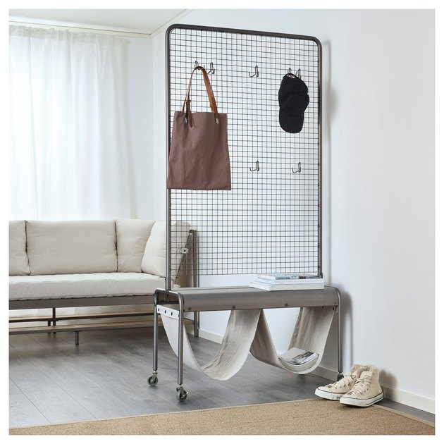room divider idea for the living room with storage