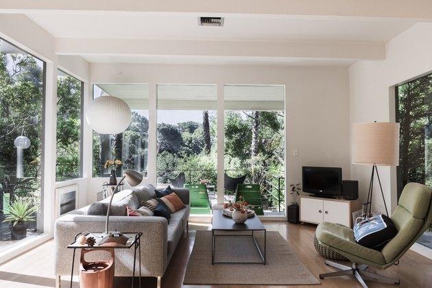 midcentury living room