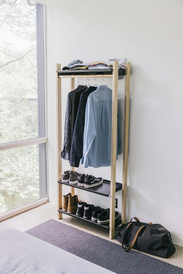 wardrobe-style shelves