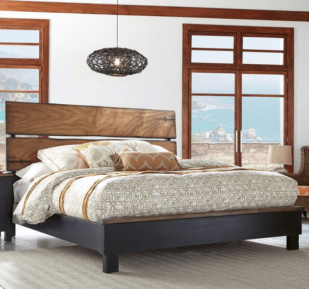 coastal furniture in a bedroom overlooking the sea