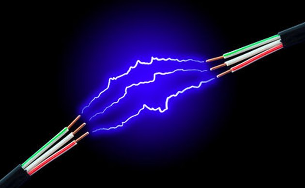 Electrical arcing between wires.