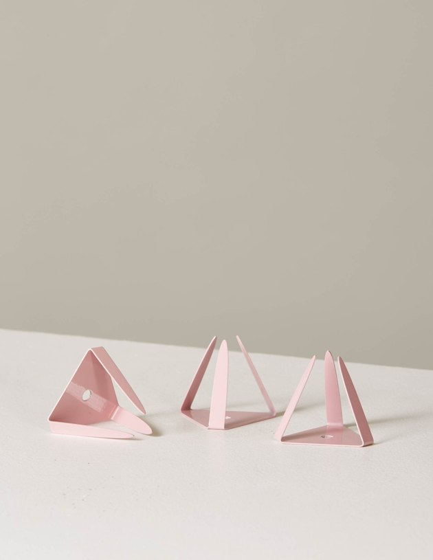 air plant stand set in pink