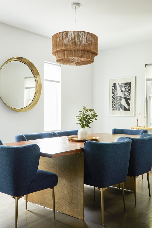 Minimalist bohemian dining room