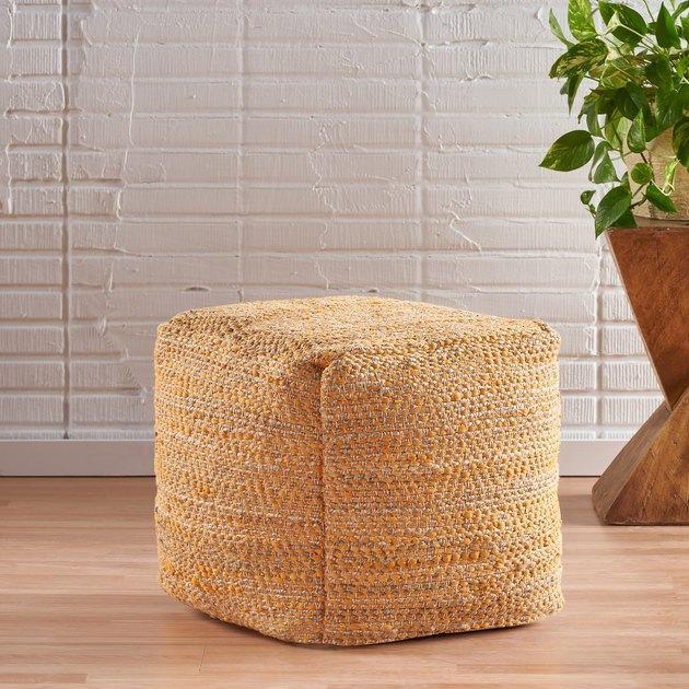 Noble House Nagamao Artisan Fabric Cube Pouf, $74.98