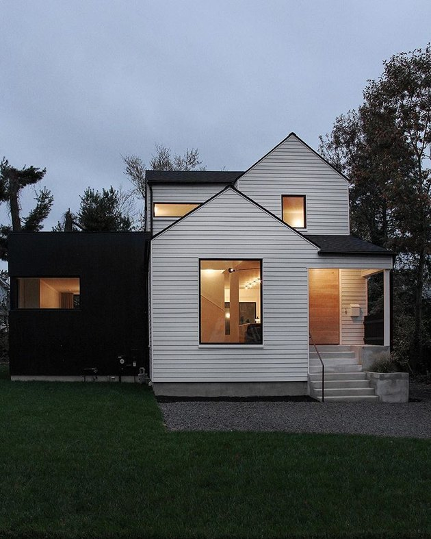 black and white modern exterior home styles