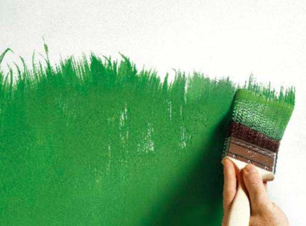A green paint.