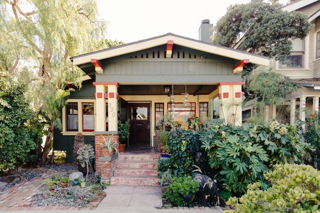 painted craftsman exterior home styles with large porch