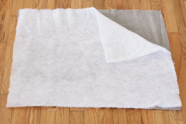 Cotton batting and fabric cut to same size