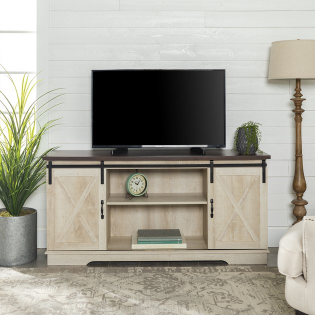Manor Park Barn Door TV Stand, $219.99