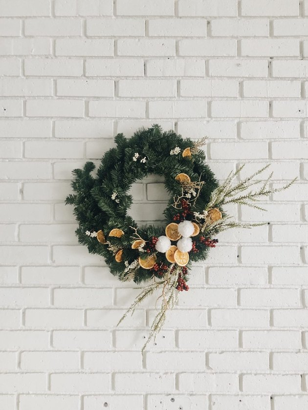 DIY Christmas wreath by Wit & Delight