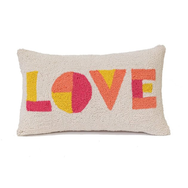 pillow with love spelled out