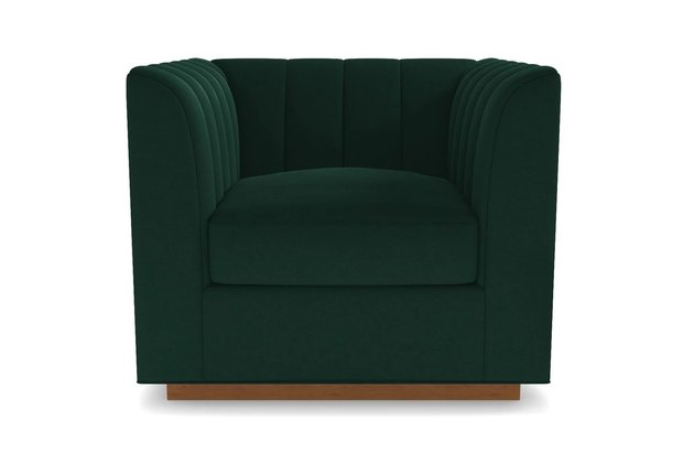 deep green club chair