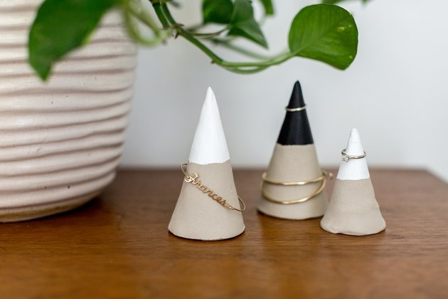 Air-dry clay jewelry cones