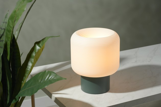 lamp near plant
