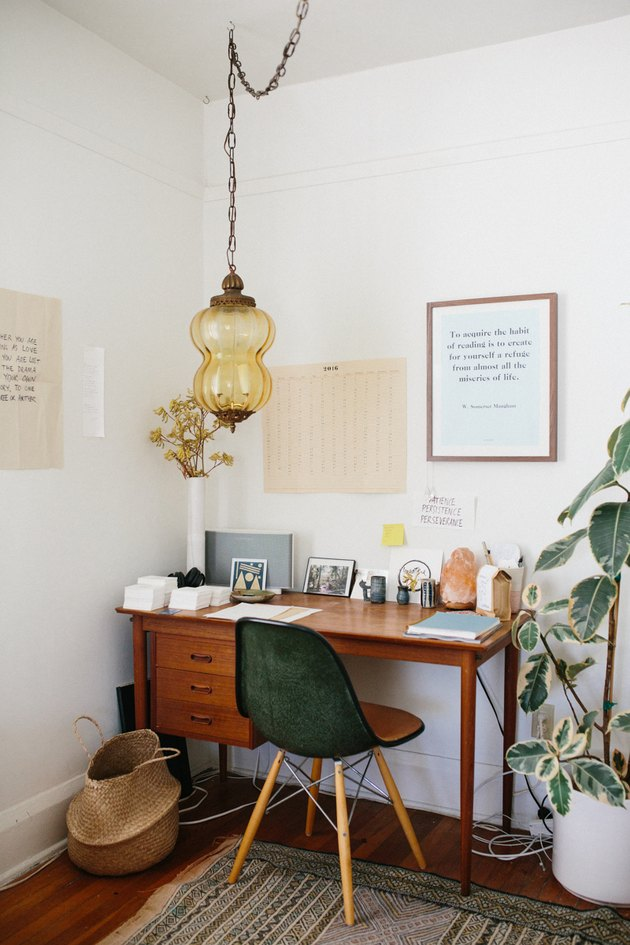 vintage midcentury modern furniture in home office