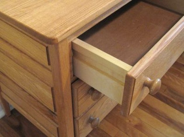 Half open drawer.