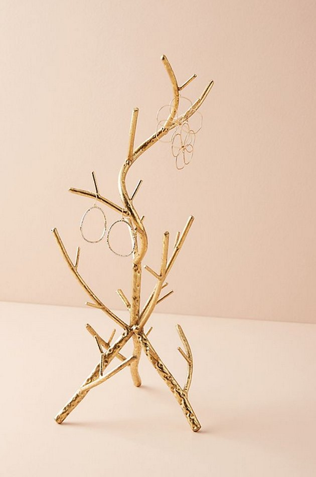 Golden Branch Jewelry Stand