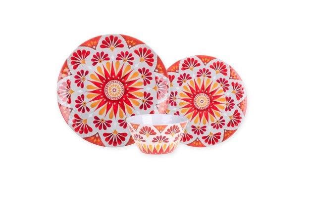 gypsy grapefruit melamine dinnerware