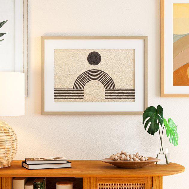 MoDRN Natural Boho Rainbow Bridge Framed Art Print, $50