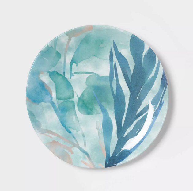 blue watercolor plate