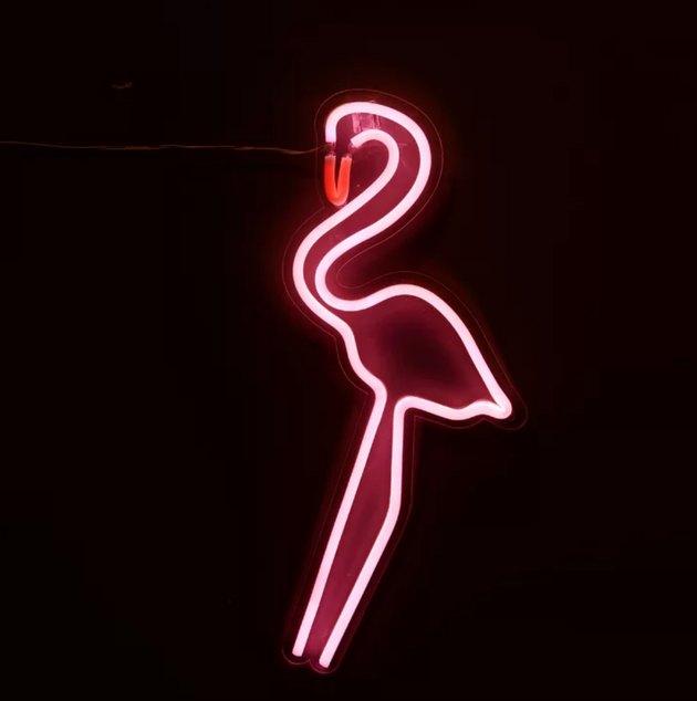 pink flamingo neon light