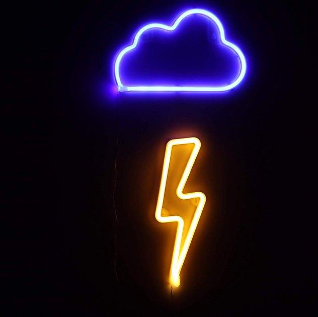 thunder and lightening neon light set