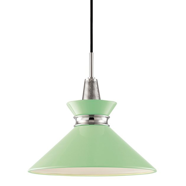 "Mitzi Kiki 14""W Polished Nickel Pendant Light"