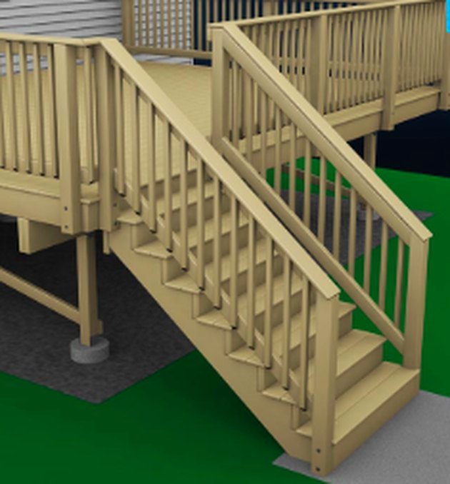 Finished deck staircase.