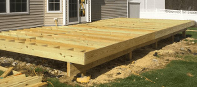 Deck under construction.