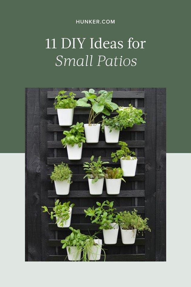 DIY Small Patio Ideas and Tutorials