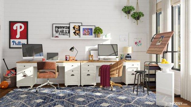 farmhouse-style office