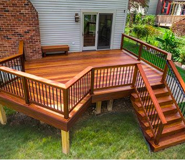 Small deck.