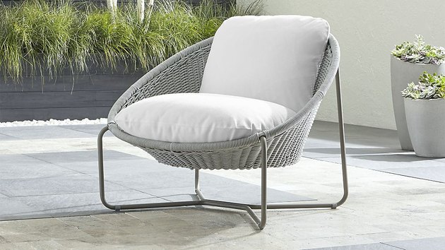 Crate & Barrel Morocco Oval Lounge Chair