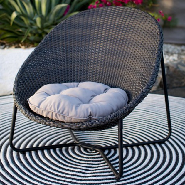 Coral Coast Nicobar Steel Wicker Egg Chair