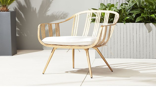 CB2 Gala Gold Lounge Chair