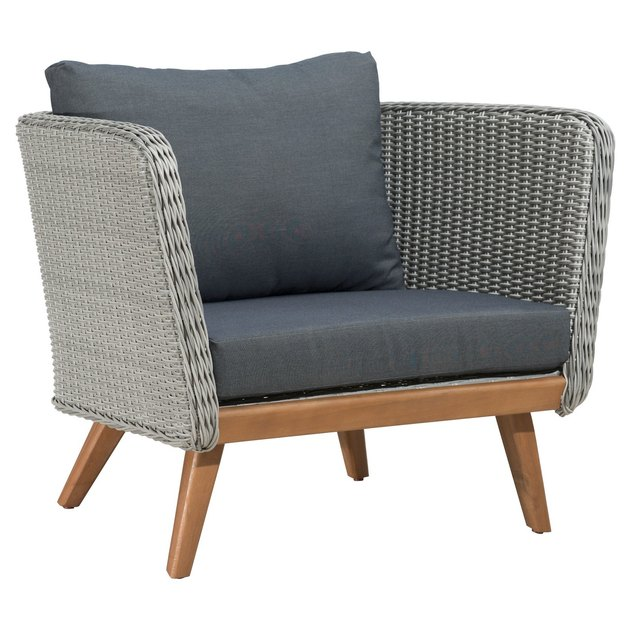 ZM Home Mid-Century Modern Outdoor Lounge Chair