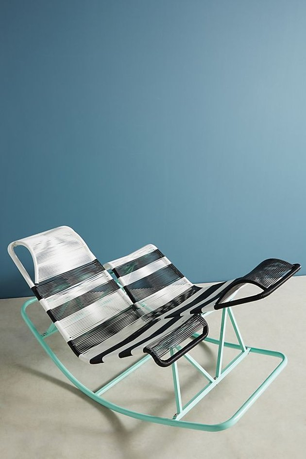 Anthropologie Dual Indoor/Outdoor Rocking Chair