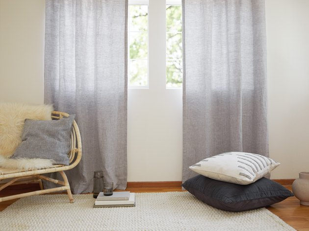 Parachute washed linen curtains