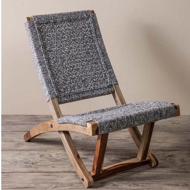 Bungalow Rose Adelphi Denim Lounge Chair