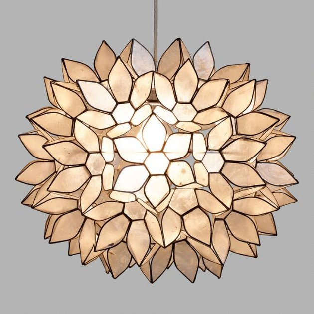 capiz shell pendant light