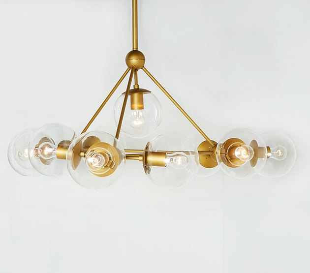 midcentury style gold chandelier
