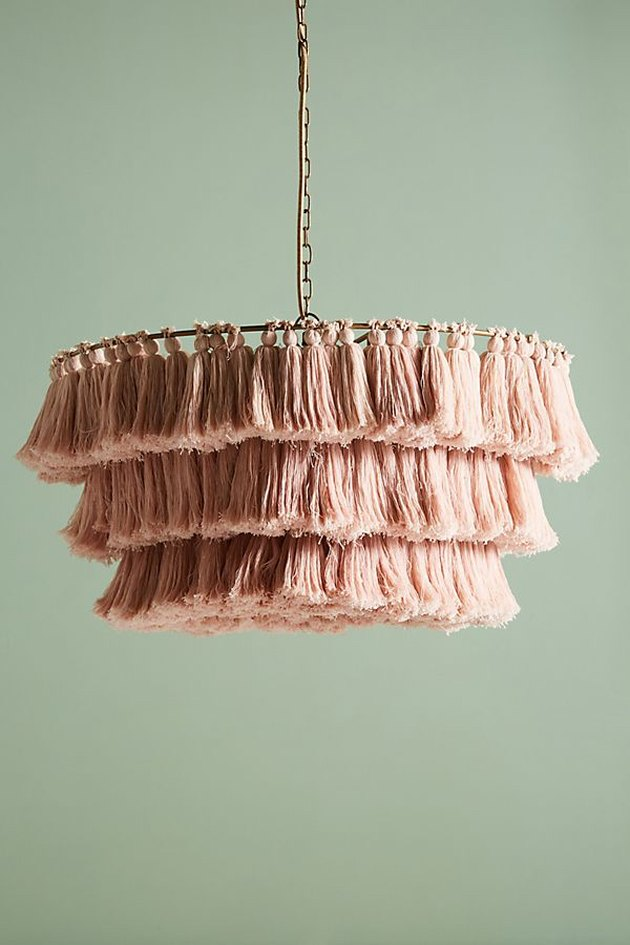 blush tasseled chandelier