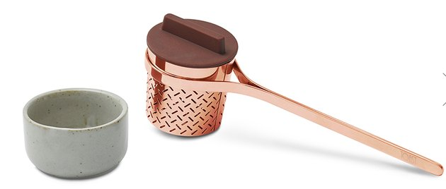 copper tea strainer