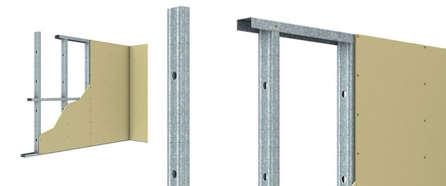 Metal framing cross section