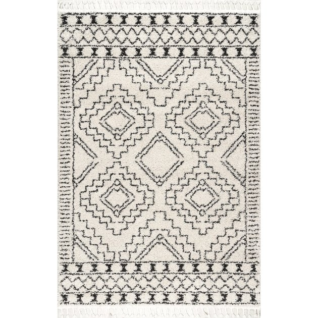 geometric area rug