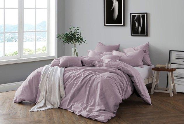 yarn dye cotton chambray duvet cover set