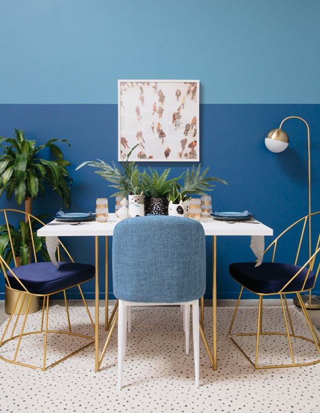 two tone blue dining room oh joy