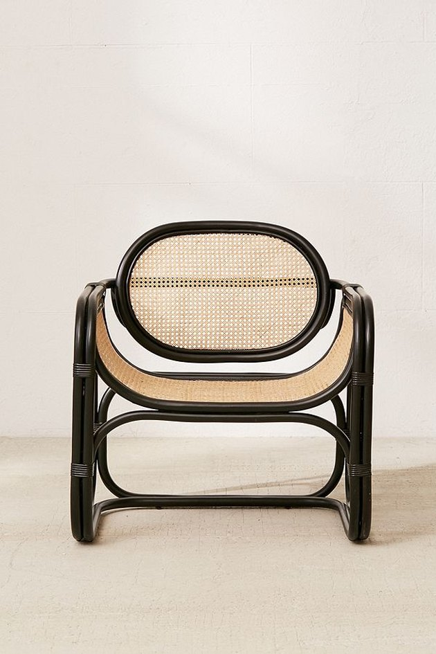 caned lounge chair